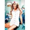 NURSES COAT WITH RED DETAILS AND HAT, Q